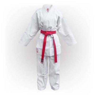 Kimono Karate, Saman Kumite, alb, raiat poliester/bumbac