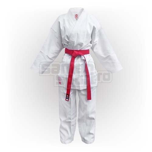 Kimono Karate, Saman Kumite, alb, raiat poliester/bumbac, 200 mărimea