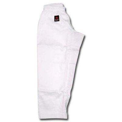 Pantaloni Karate, Little, Saman, bumbac/sintetic, alb, elastic