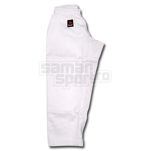 Pantaloni Karate, Little, Saman, bumbac/sintetic, alb, elastic, 110 cm mărimea