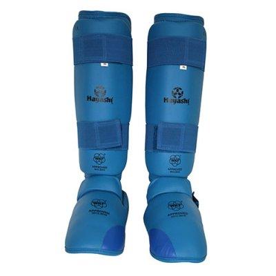 Protectii pentru tibie si picior, Hayashi, WKF, albastre