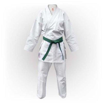 Kimono Karate, Saman, Basic Kata, cu centura, alb, bumbac