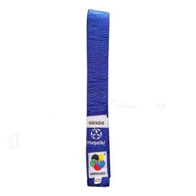 Centura Karate, Hayashi, WKF, albastru