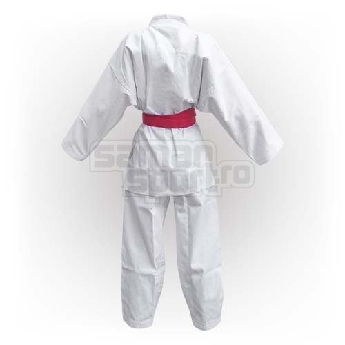 Kimono Karate, Saman Kumite, alb, raiat poliester/bumbac, 150 mărimea