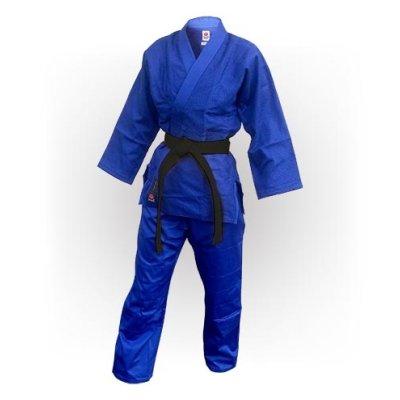 Kimono Judo, Saman, Advanced, din bumbac, 450g/m2, albastru