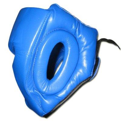 Casca protectie Saman, SPARING II, din piele, albastra