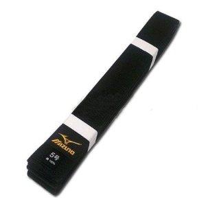 Centura Mizuno neagra, stil japonez, bumbac, 325 (6,5) méret