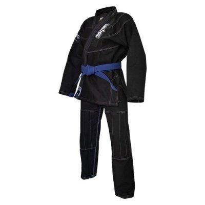 Kimono Ju-Jitsu SAMAN KID , negru.