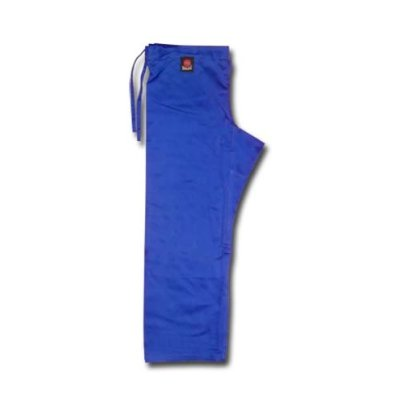 Pantaloni Judo Advanced, Saman,  bumbac, albastru