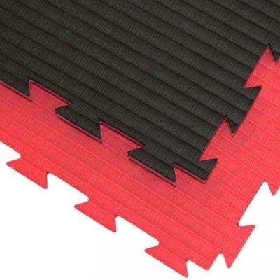 Tatami 1m*1m*2cm Professional Double, rosu-negru