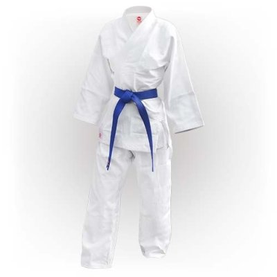 Kimono Judo, Saman, Basic, bumbac, alb