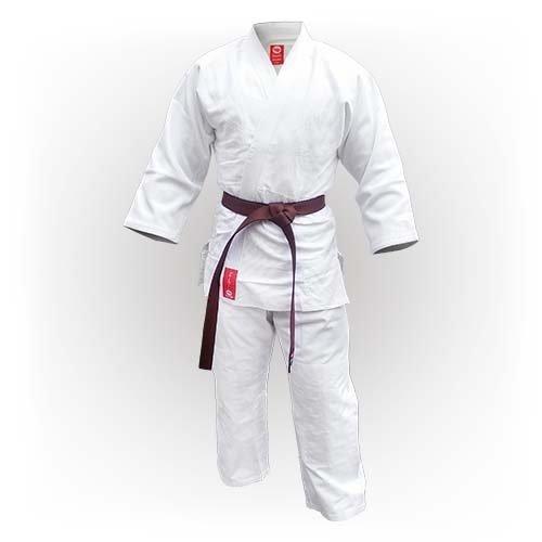 Kimono Judo, Saman, Advanced, gros, bumbac, alb