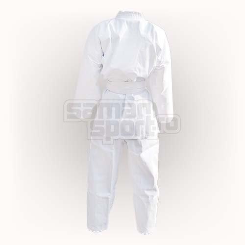 Kimono Karate, Saman, Light Uniform, cu centura, alb, bumbac/poliester