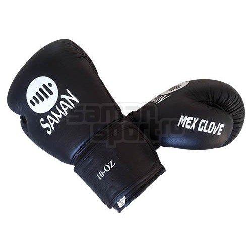Manusi Box, Saman, Mex Glove, piele, negru