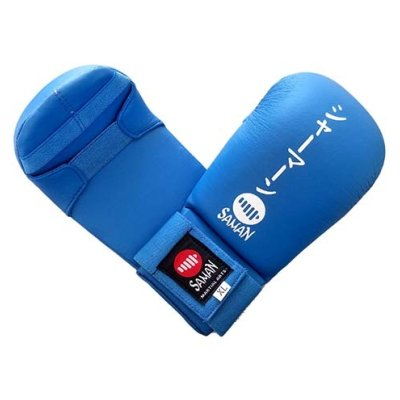 Manusi Karate, Saman, Competition, MKSZ, piele ecologica, albastru