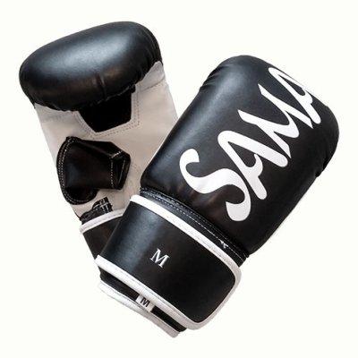 Manusi pentru sac, Saman, din piele artificiala, negru/alb, Smash