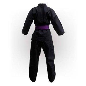 Kimono Karate, Saman, Budo Black, negru, bumbac, 12 oz, 200 méret