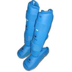 Protectie tibie,botosei Tokaido, WKF, PU, albastru