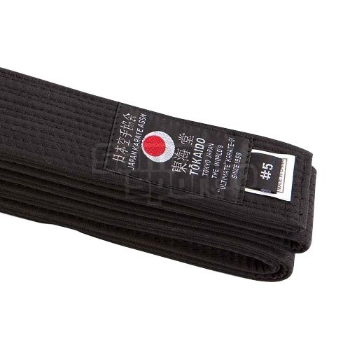 Centura Karate, Tokaido,bumbac , negru, design Japonez, 305 (5,5) mărimea