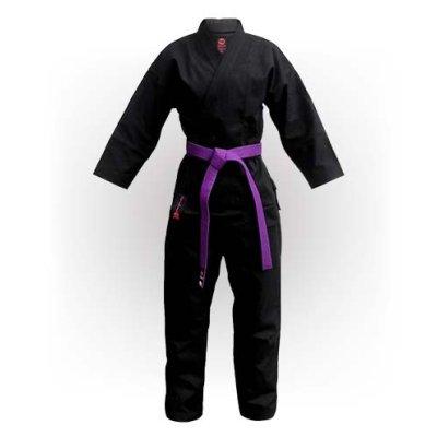 Kimono Karate, Saman, Budo Black, negru, bumbac, 12 oz