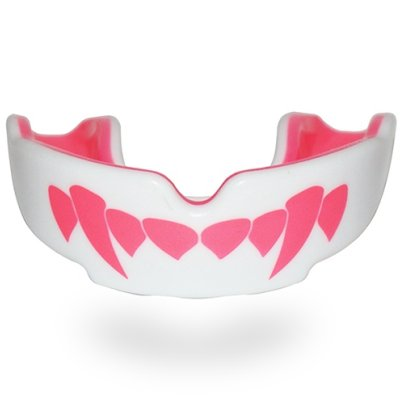 Protectie dentara, SafeJawz, model vampir, alb-roz