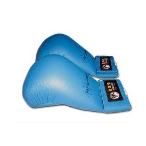 Manusi Karate, Tokaido, WKF, piele acologica, albastru