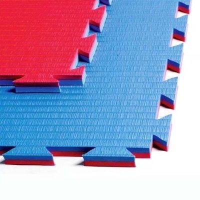Tatami 1m*1m*2cm Professional Double, rosu-albastru