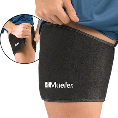Banda elastica pentru coapsa, Mueller, din neopren, neagra, marime universala