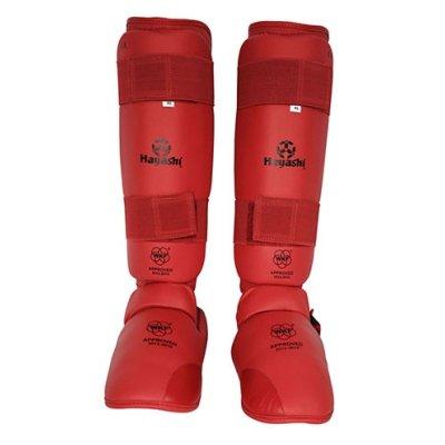 Protectii pentru tibie si picior, Hayashi, WKF, rosii